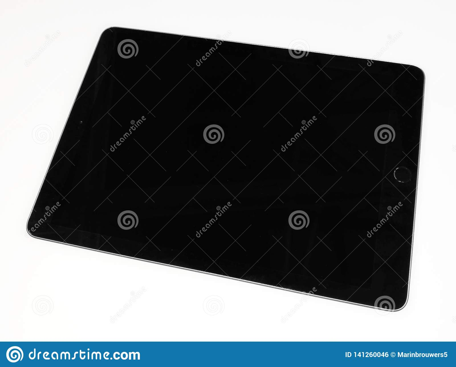 Black tablet , phone on a white background.