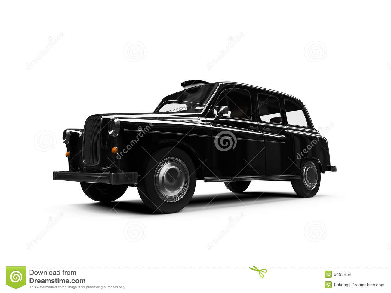 black taxi isolated over white stock images image 6493454. Black Bedroom Furniture Sets. Home Design Ideas