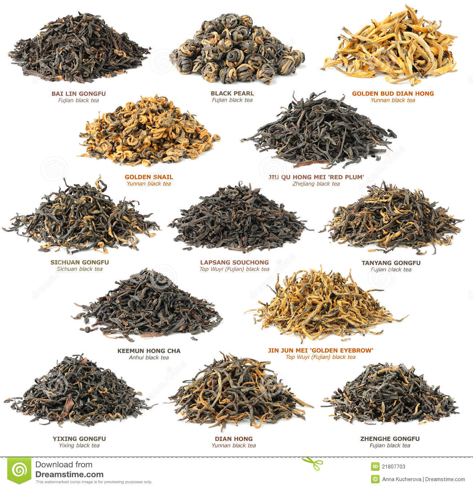 Black Tea Collection Stock Image Image Of Organic Element 21807703