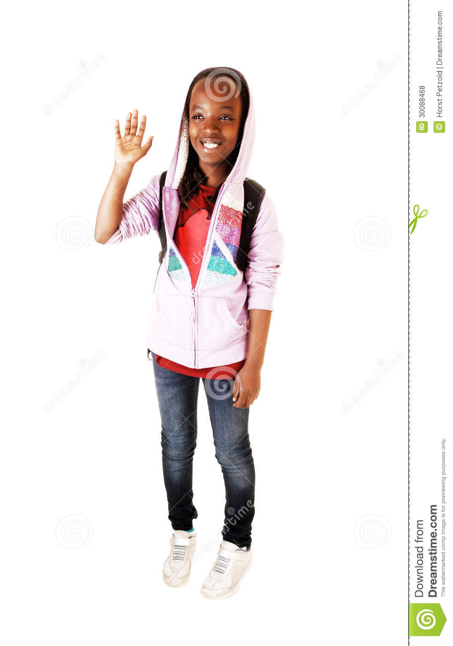 Girl Wave Good By Stock Photo Image Of Learning -6758