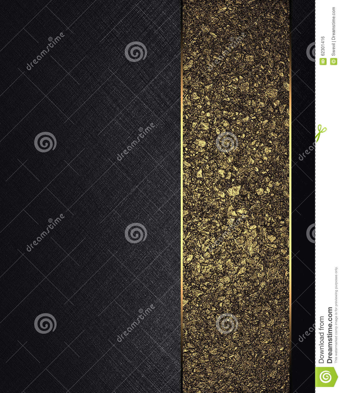 Black texture with gold ribbon element for design for Copy design