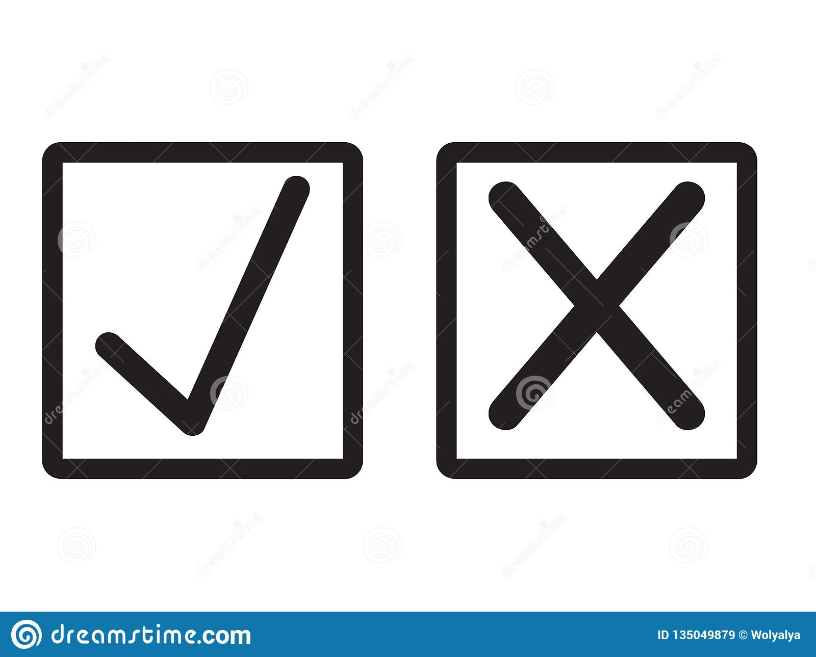 New Check Marks Set stock vector Illustration of positive