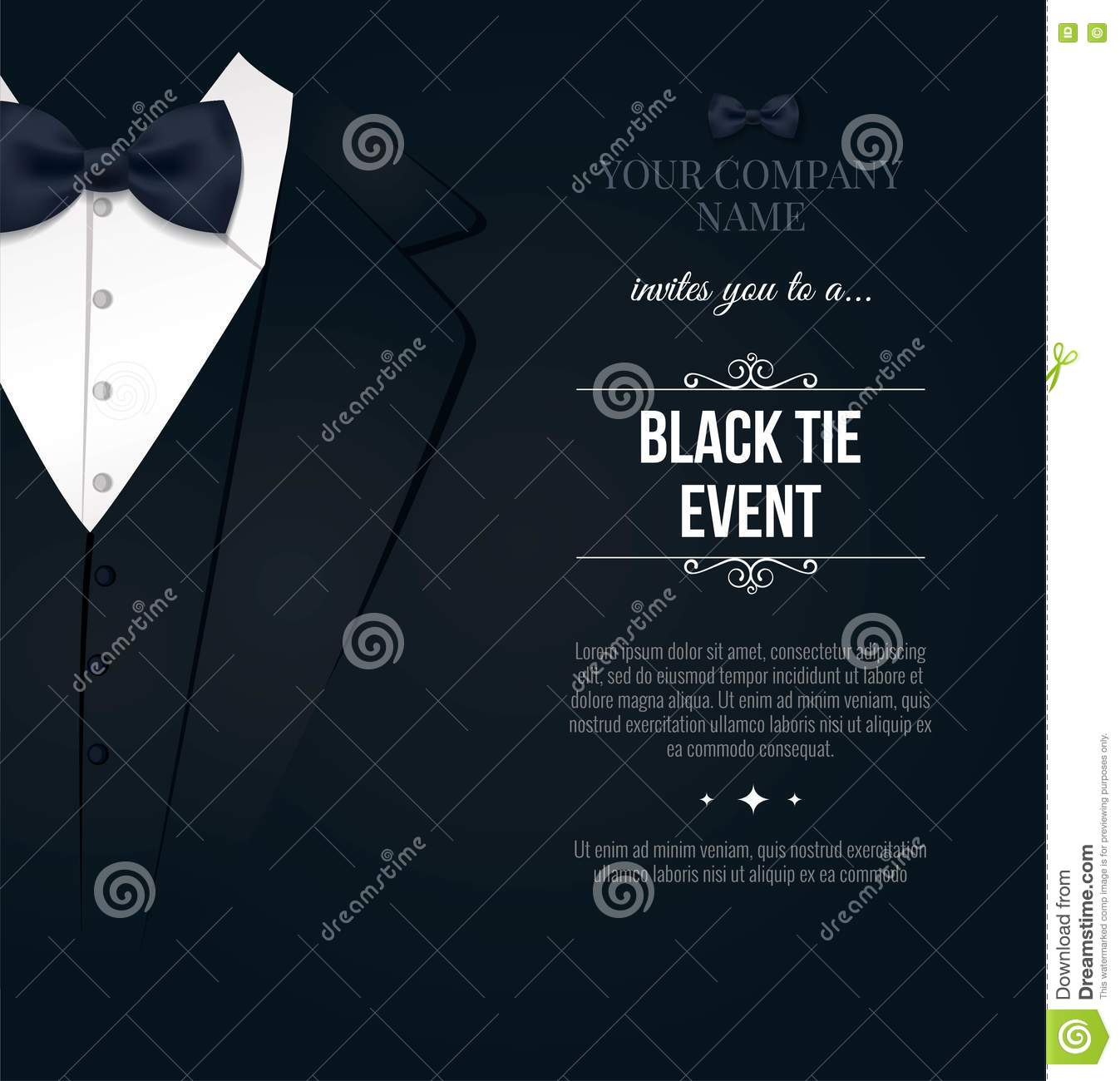 Black tie event invitation stock illustration illustration of gala download black tie event invitation stock illustration illustration of gala 78497026 stopboris Gallery