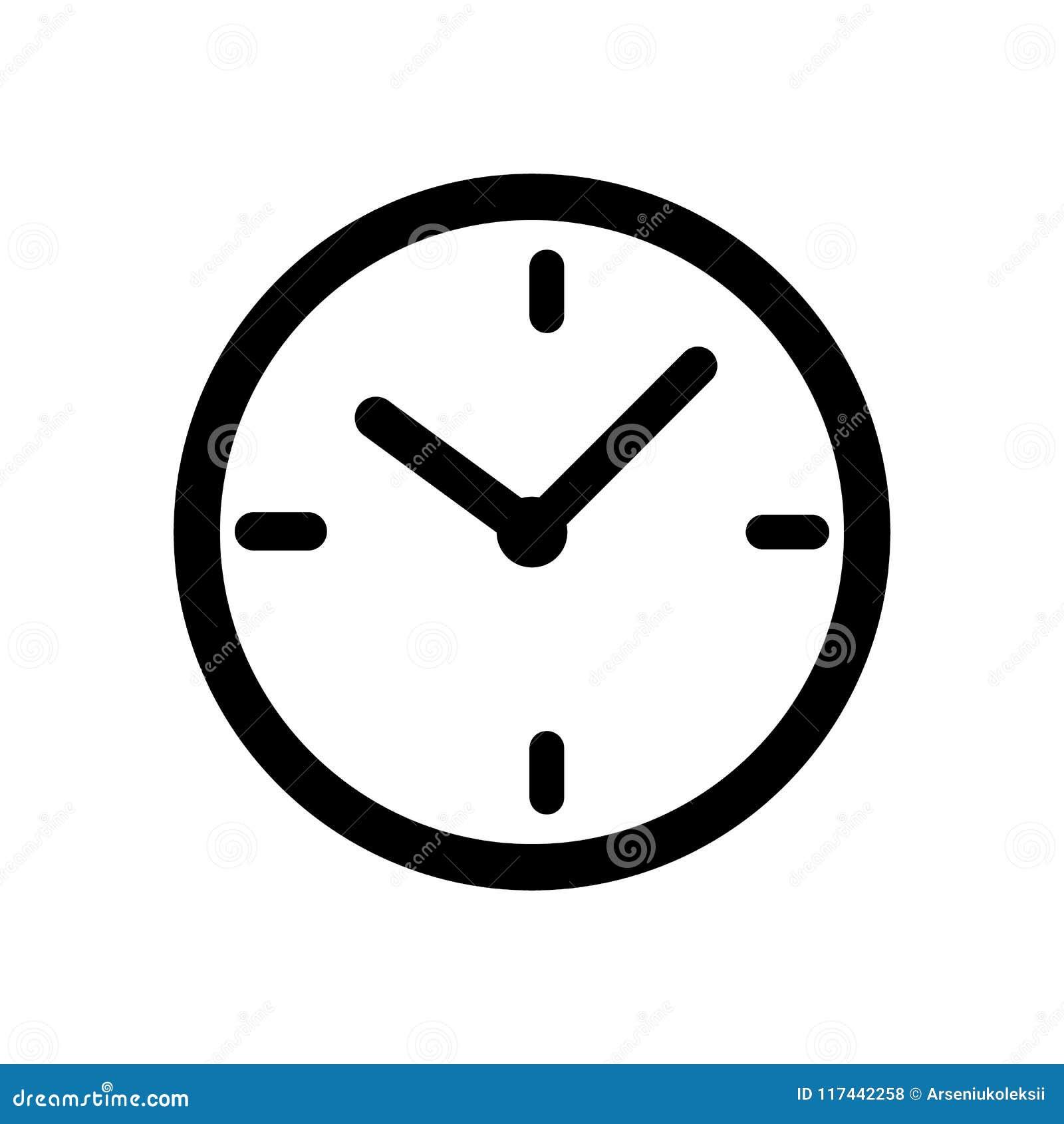 Black time clock icon