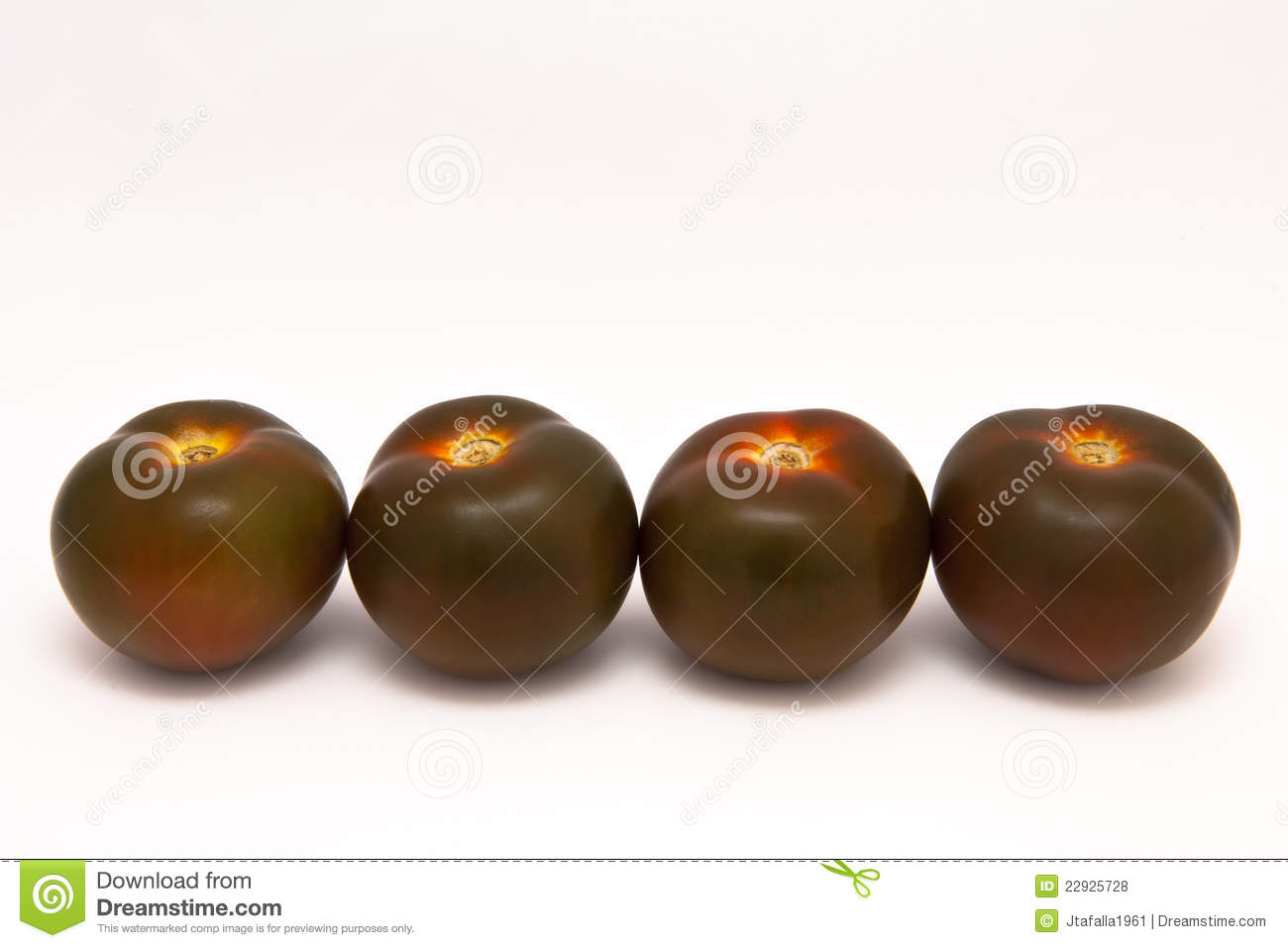 Black Tomatoes Royalty Free Stock Photos - Image: 22925728
