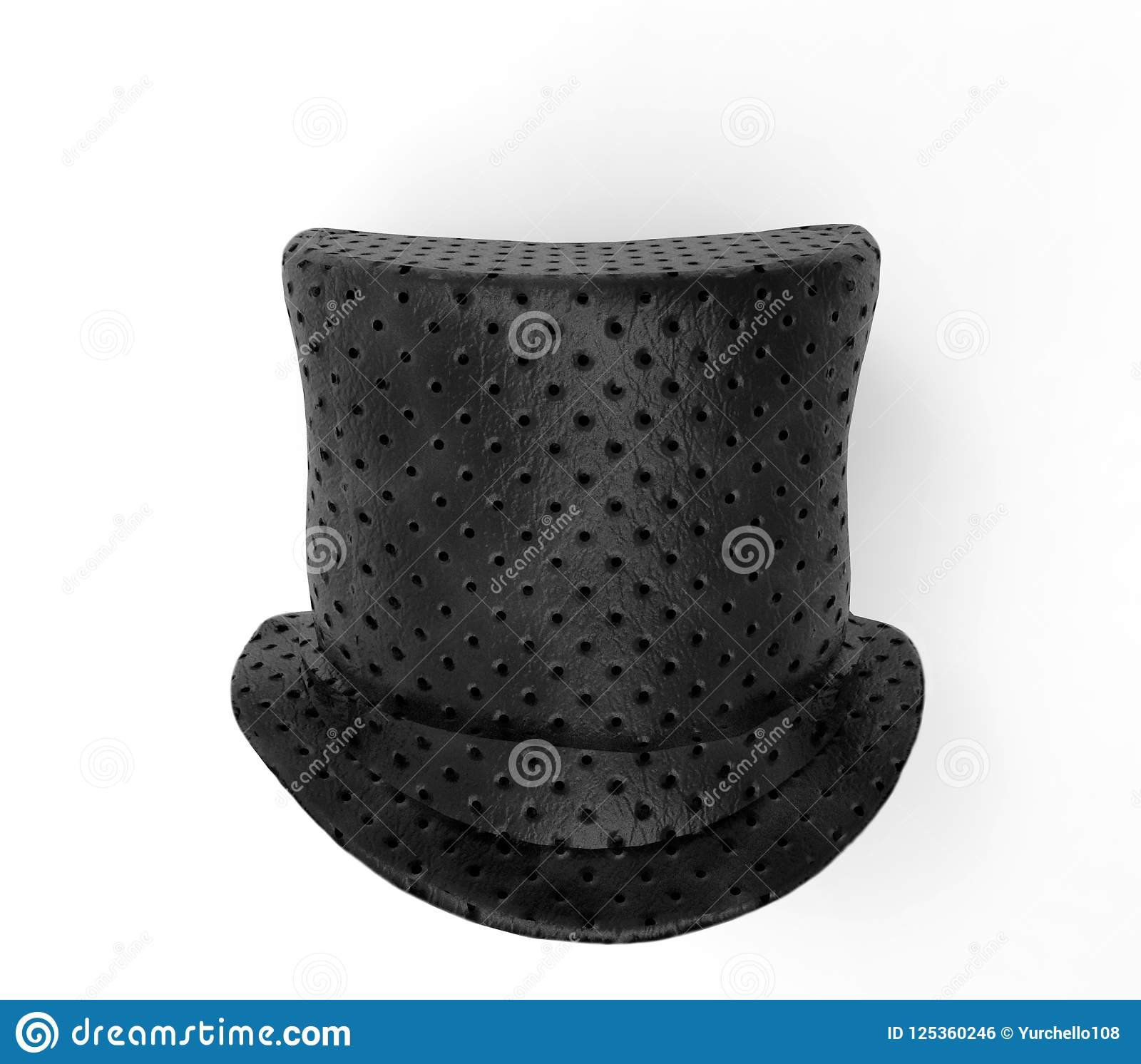 818a16f46 Black Top Hat, 3D Rendering Stock Illustration - Illustration of ...