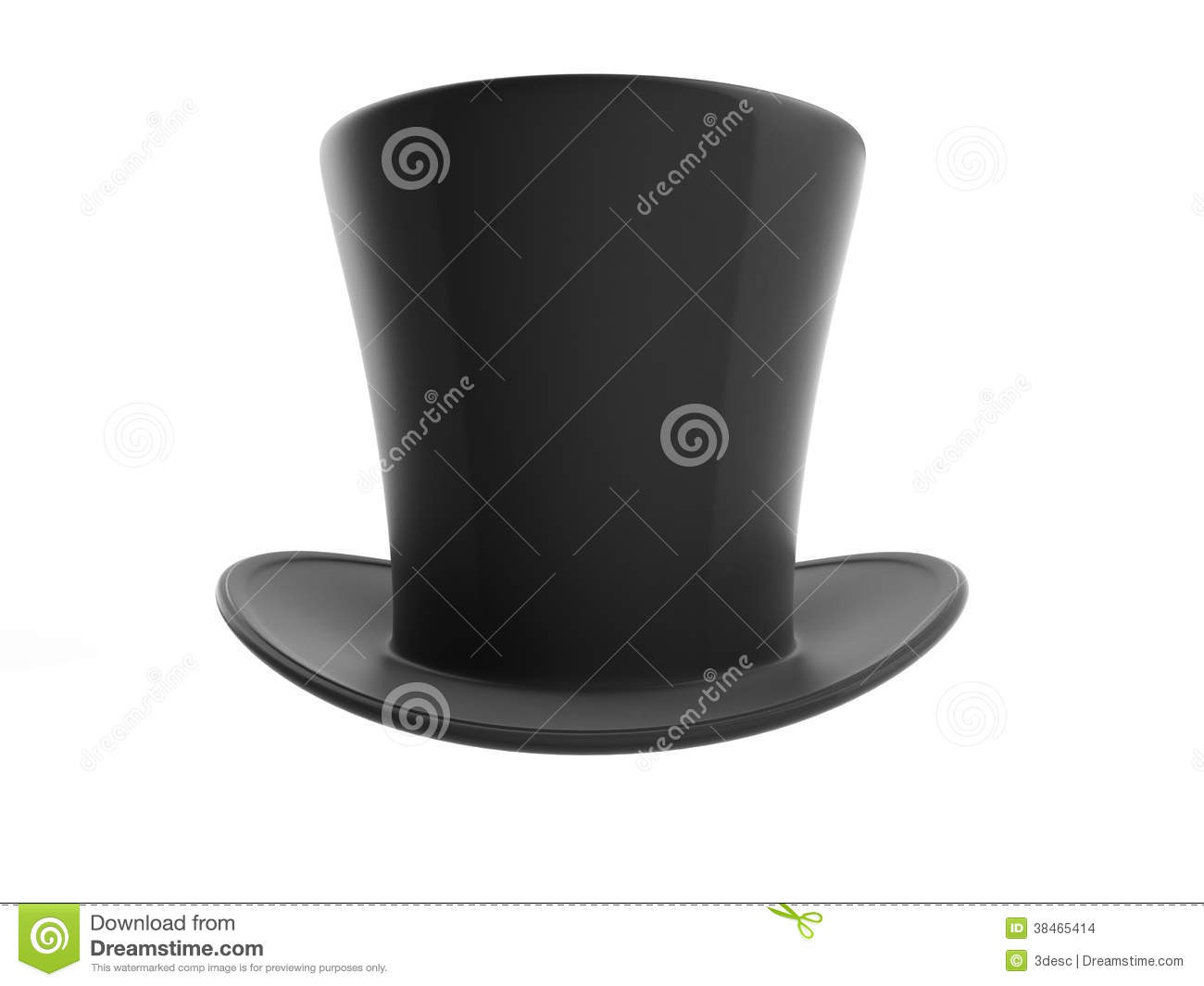 Black Top Hat Stock Images - Image: 38465414