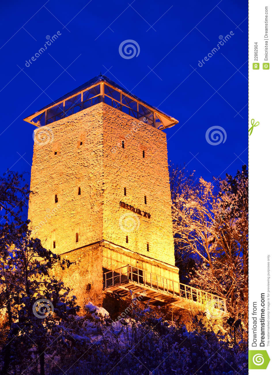 Transylvania county in Romania. The tower was built in 1494 on a rock ...