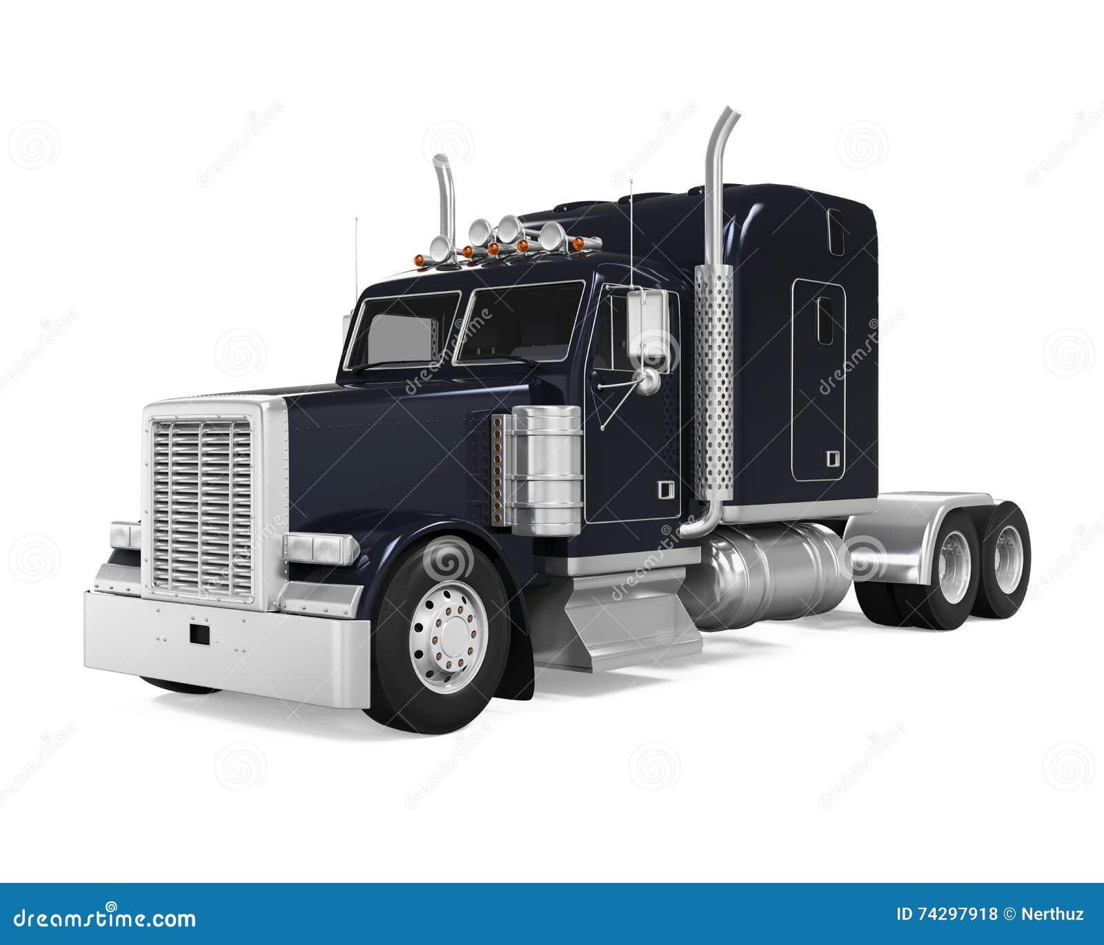 Black Trailer Truck