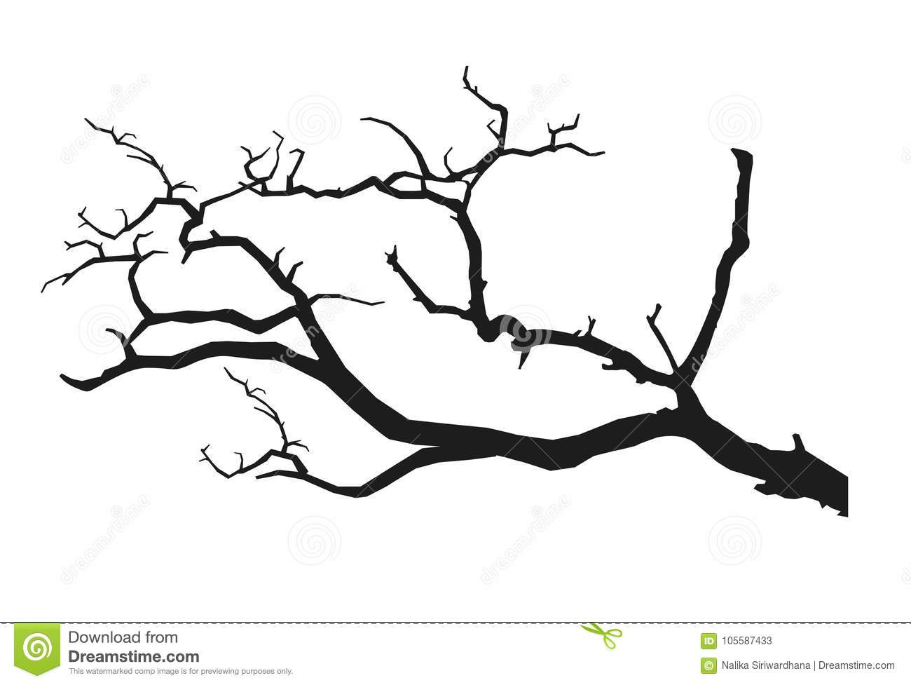 Black Tree Branch Stock Vector Illustration Of Clipart 105587433