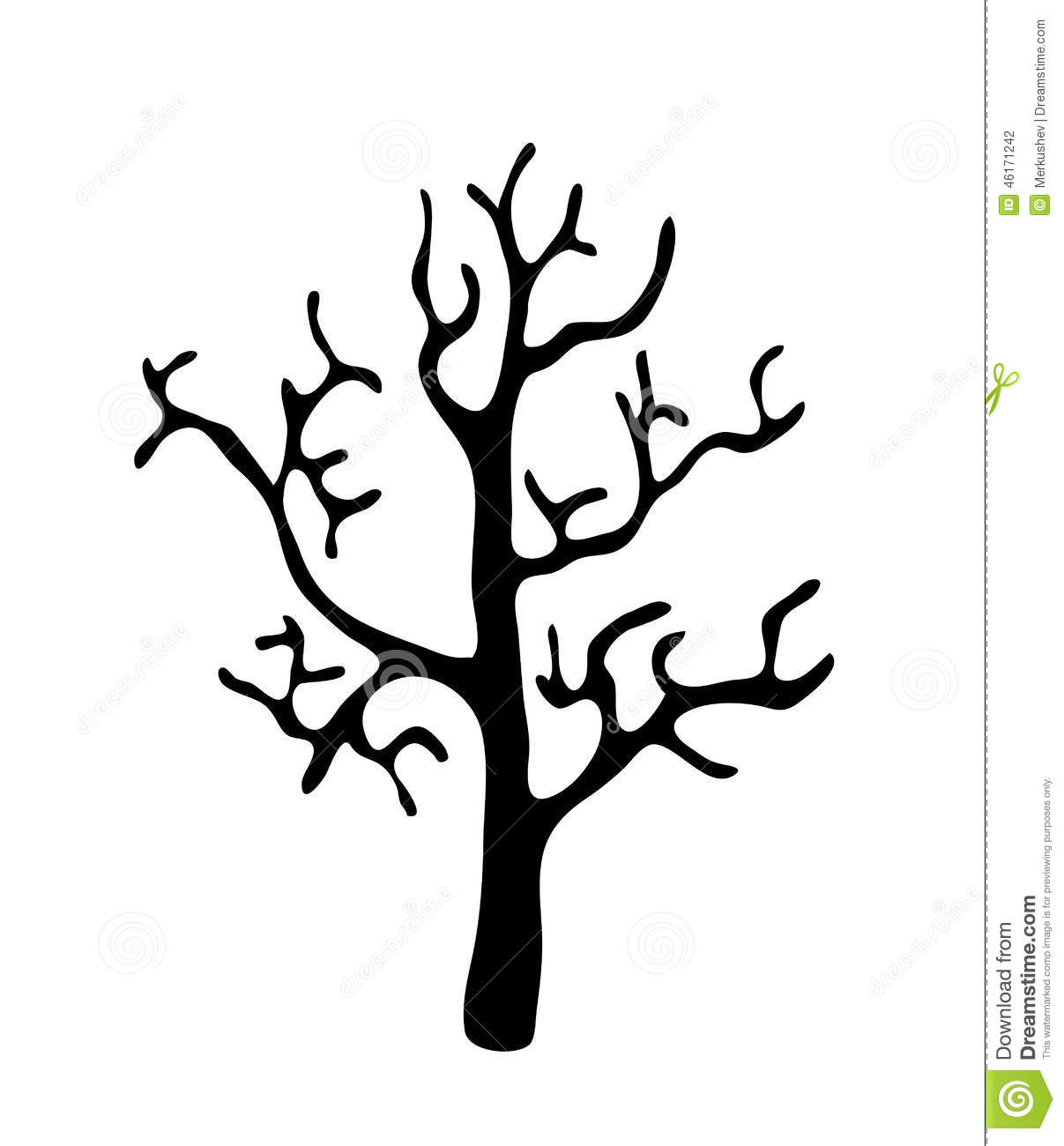 Black Tree Without Leaves, Vector Stock Vector - Image ...