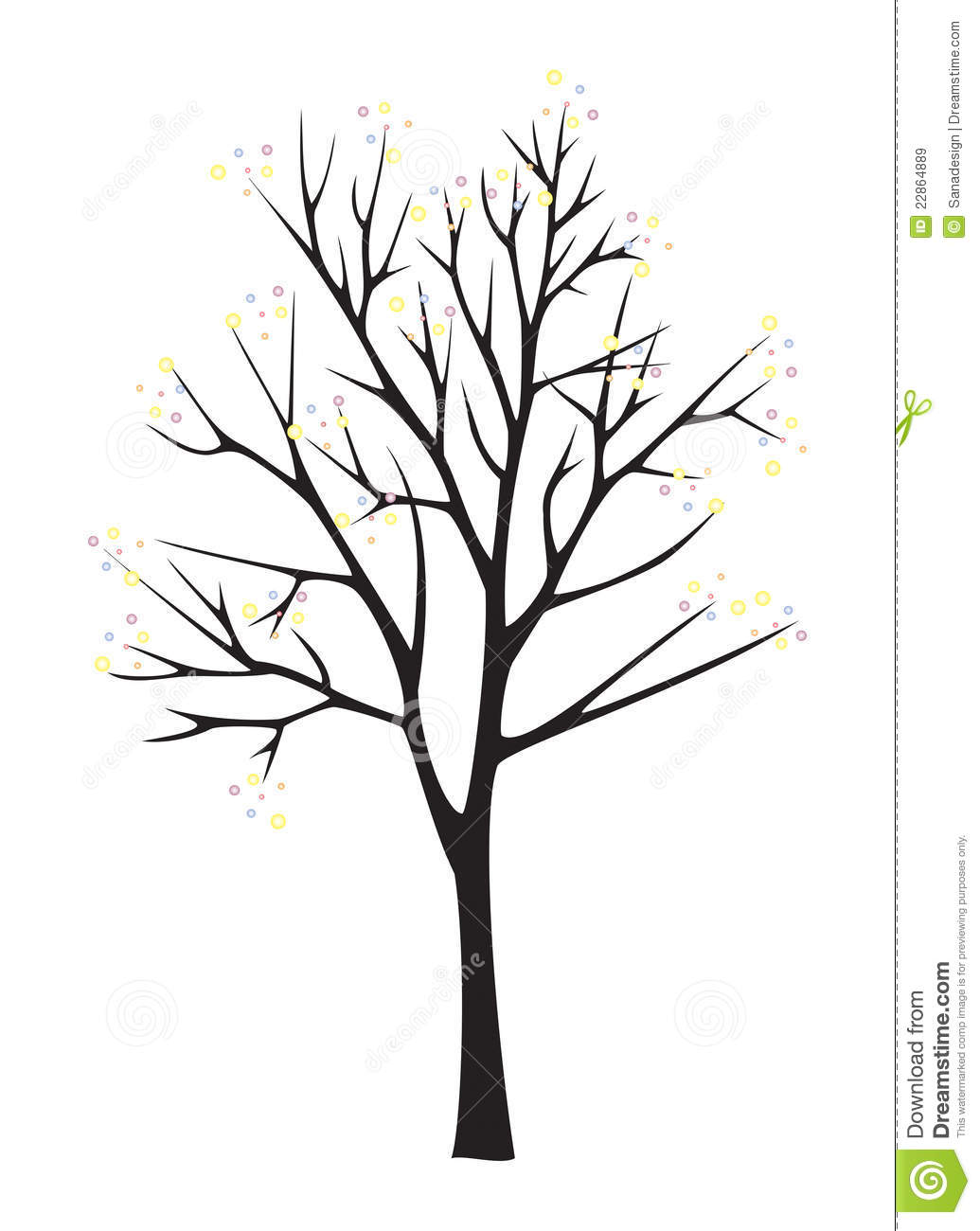 Black Tree Silhouette On White Background Royalty Free Stock Images ...