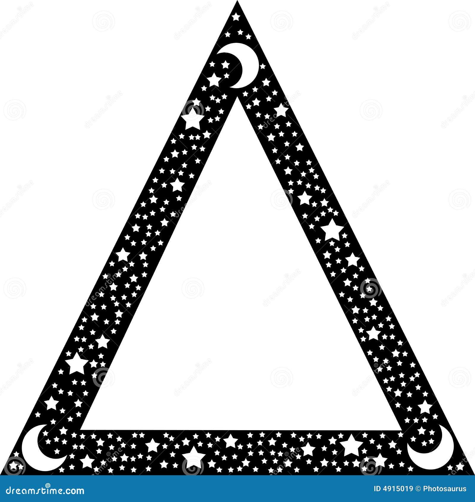 Black triangle border stock vector. Illustration of print - 4915019