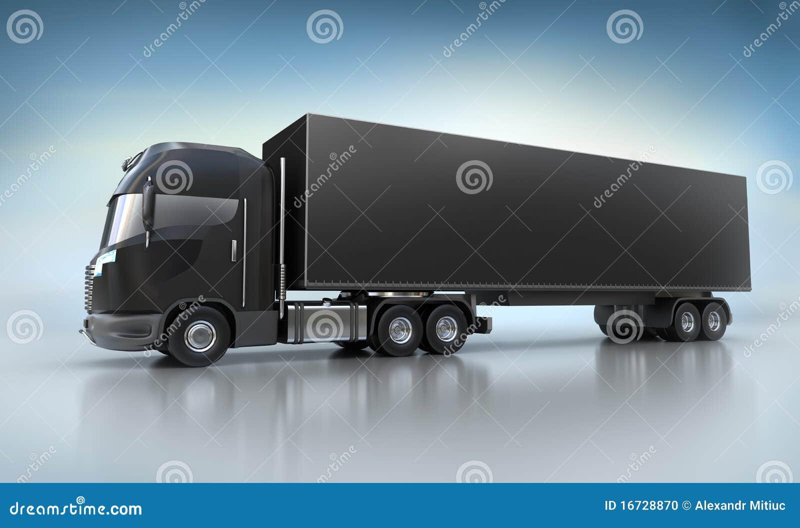 Semi Truck Seats >> Black Truck Illustration Stock Photo - Image: 16728870