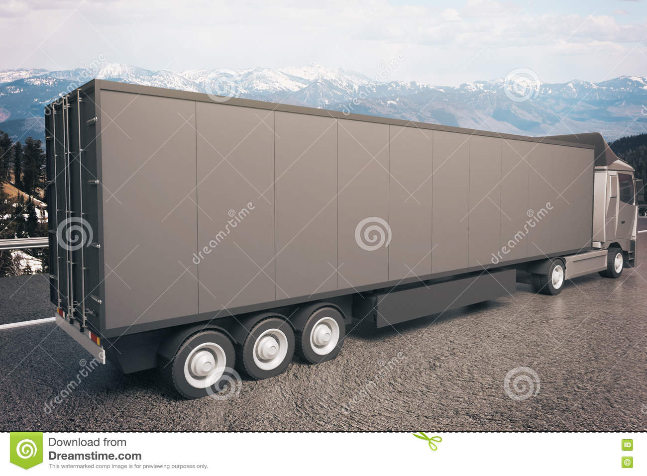 Black Truck Trailer Side Stock Illustration  Illustration