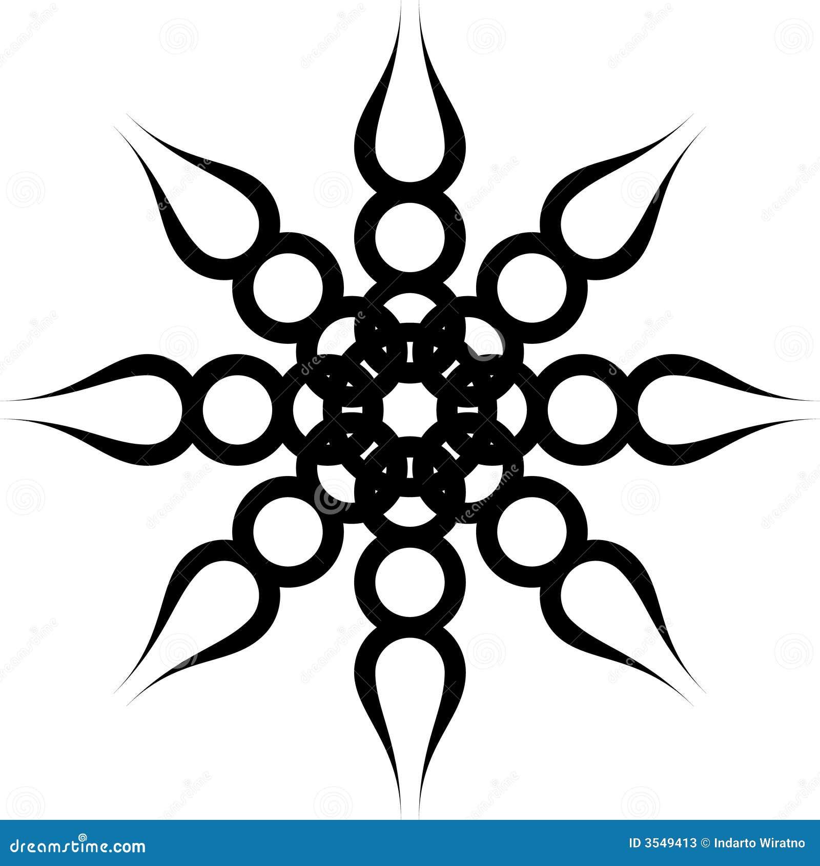 Black twist ornament