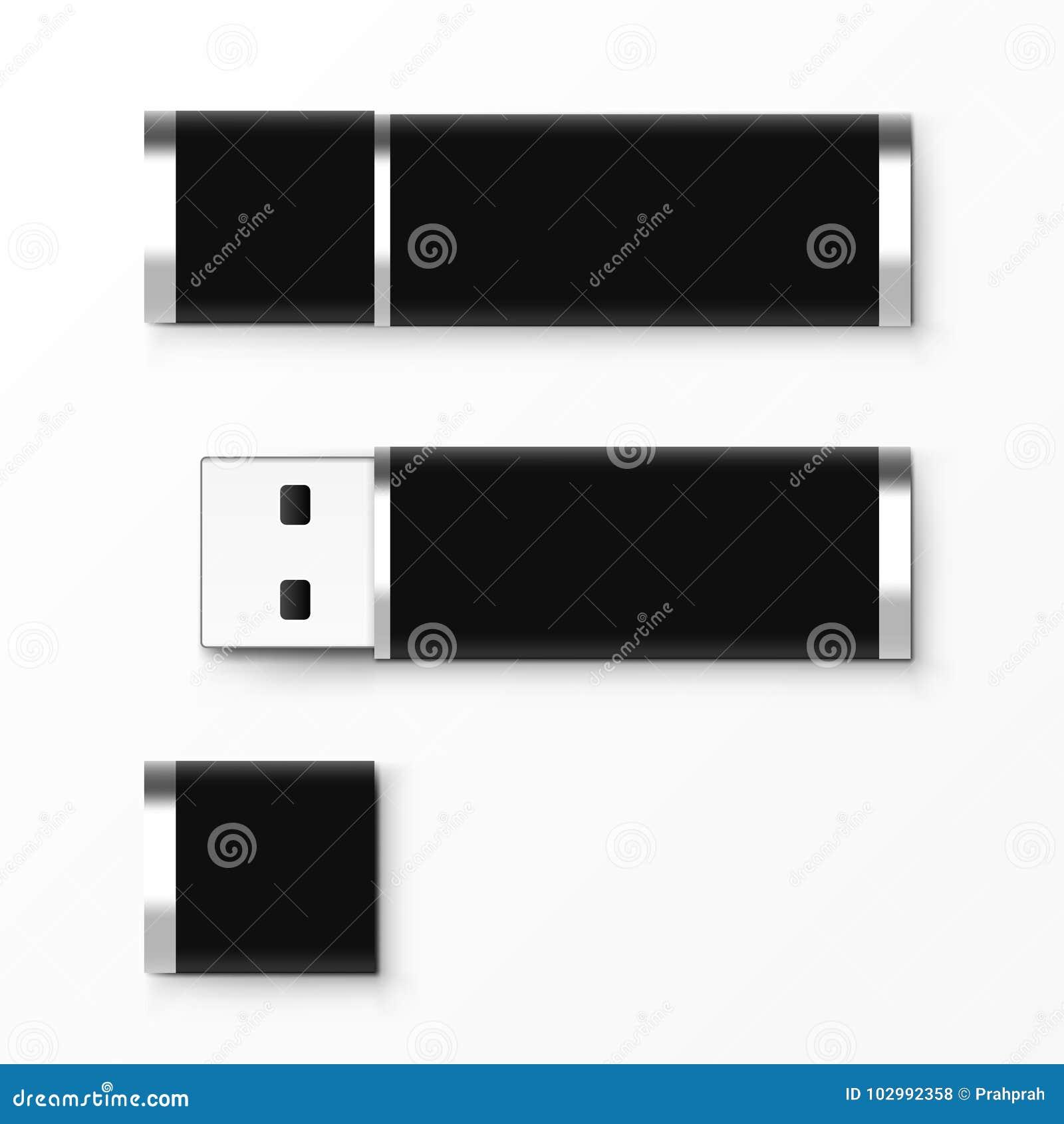 Black Usb Flash Drive Template For Advertising Branding And Corporate Identity Stock Illustration Illustration Of Branding Digital 102992358