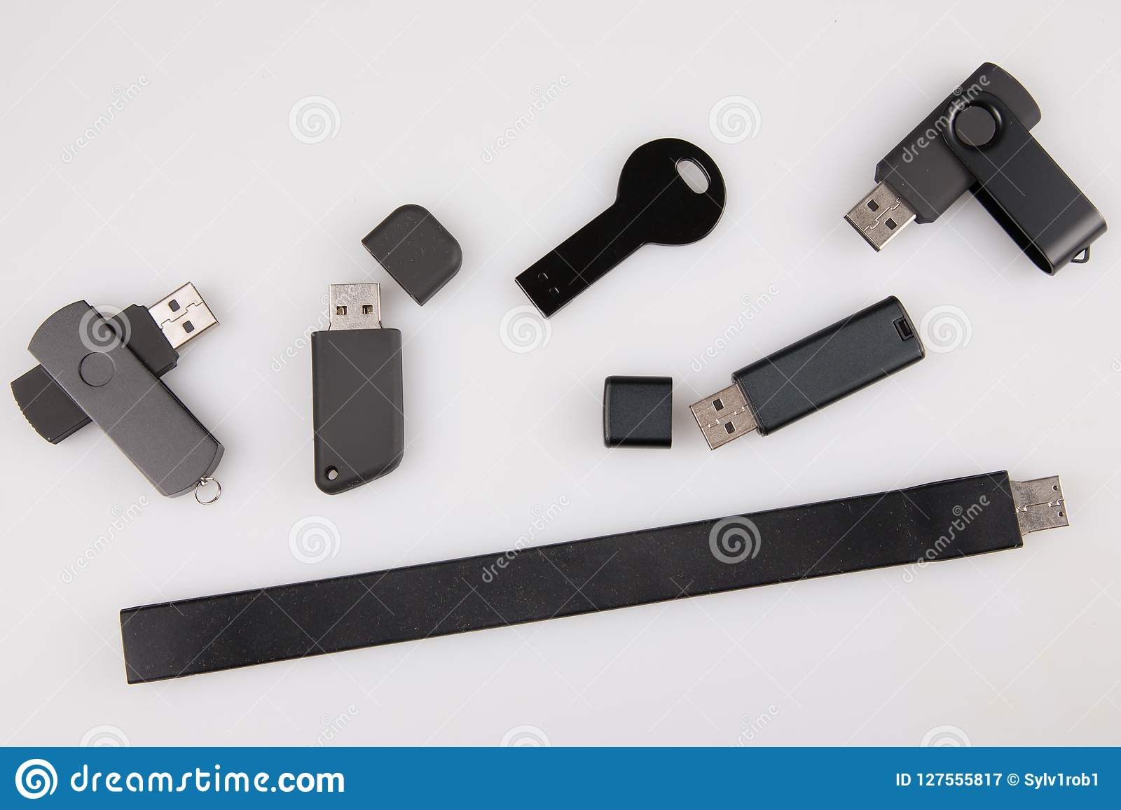Usb Flash Drives Template For Advertising And Corporate Identity Isolated On White Stock Image Image Of Stick Isolated 127555817