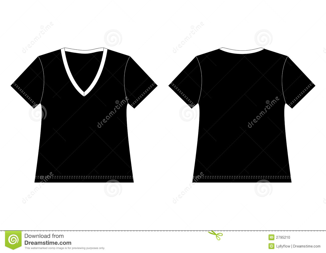 Black v neck t shirt stock photo image 2795210 for V neck black t shirt