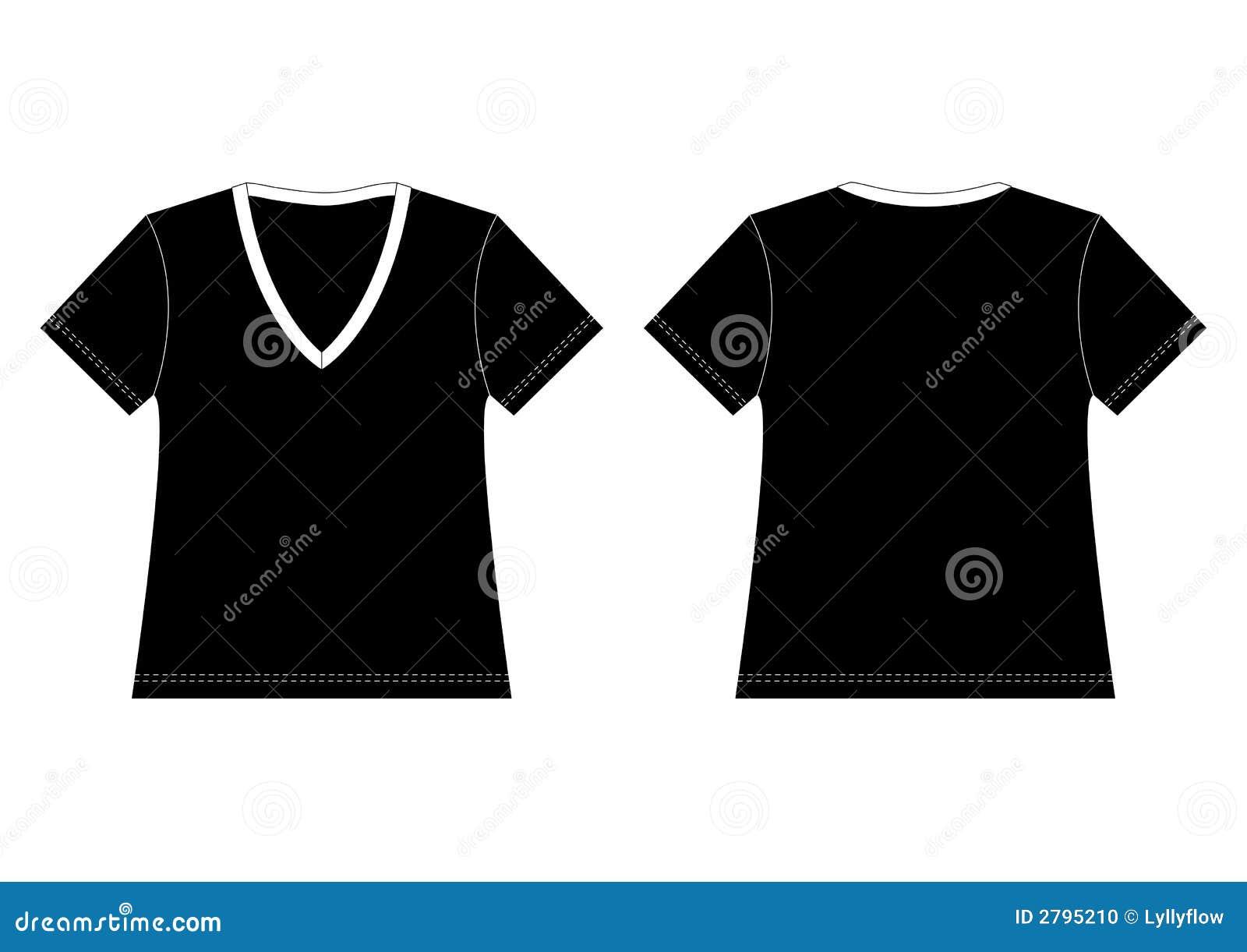 Black V Neck T Shirt Stock Photo Image 2795210