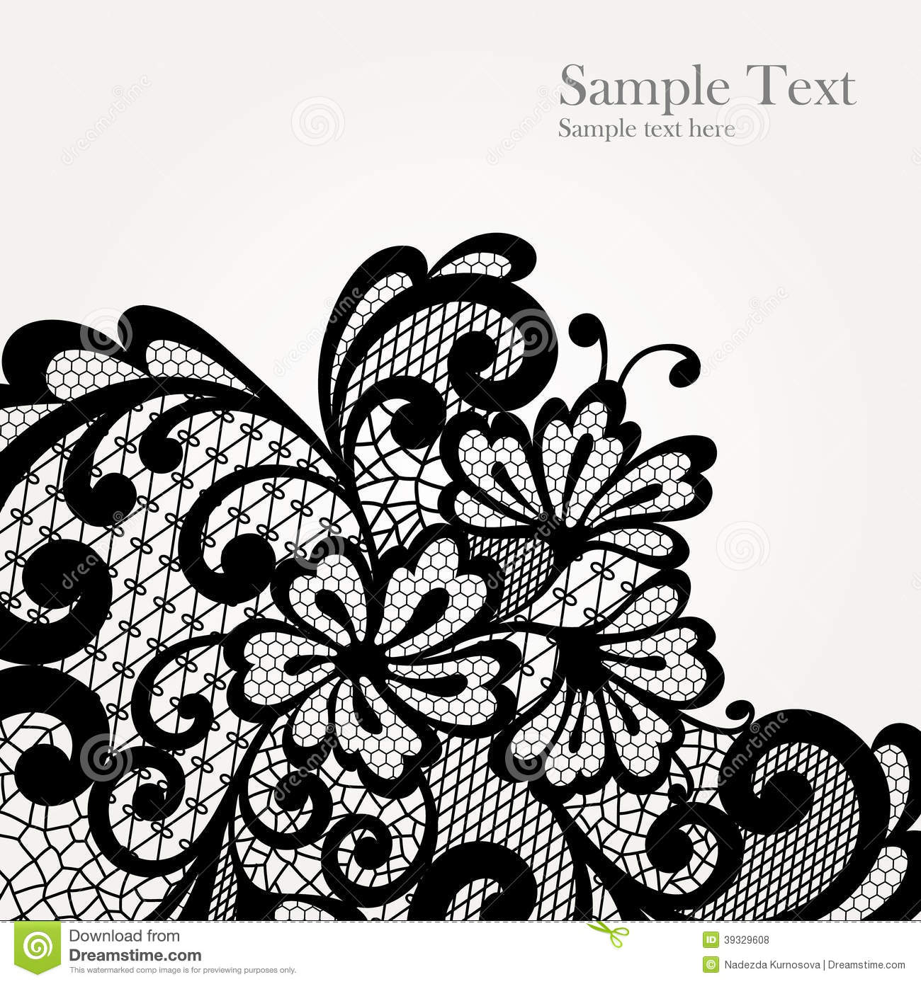 Flower Lace Tattoo Line Drawing Wiring Diagrams Circuits Gt 5 3w Amplifier With Surround System L36272 Nextgr Black Vector Corner Stock Image 39329608 And Rose Filigree