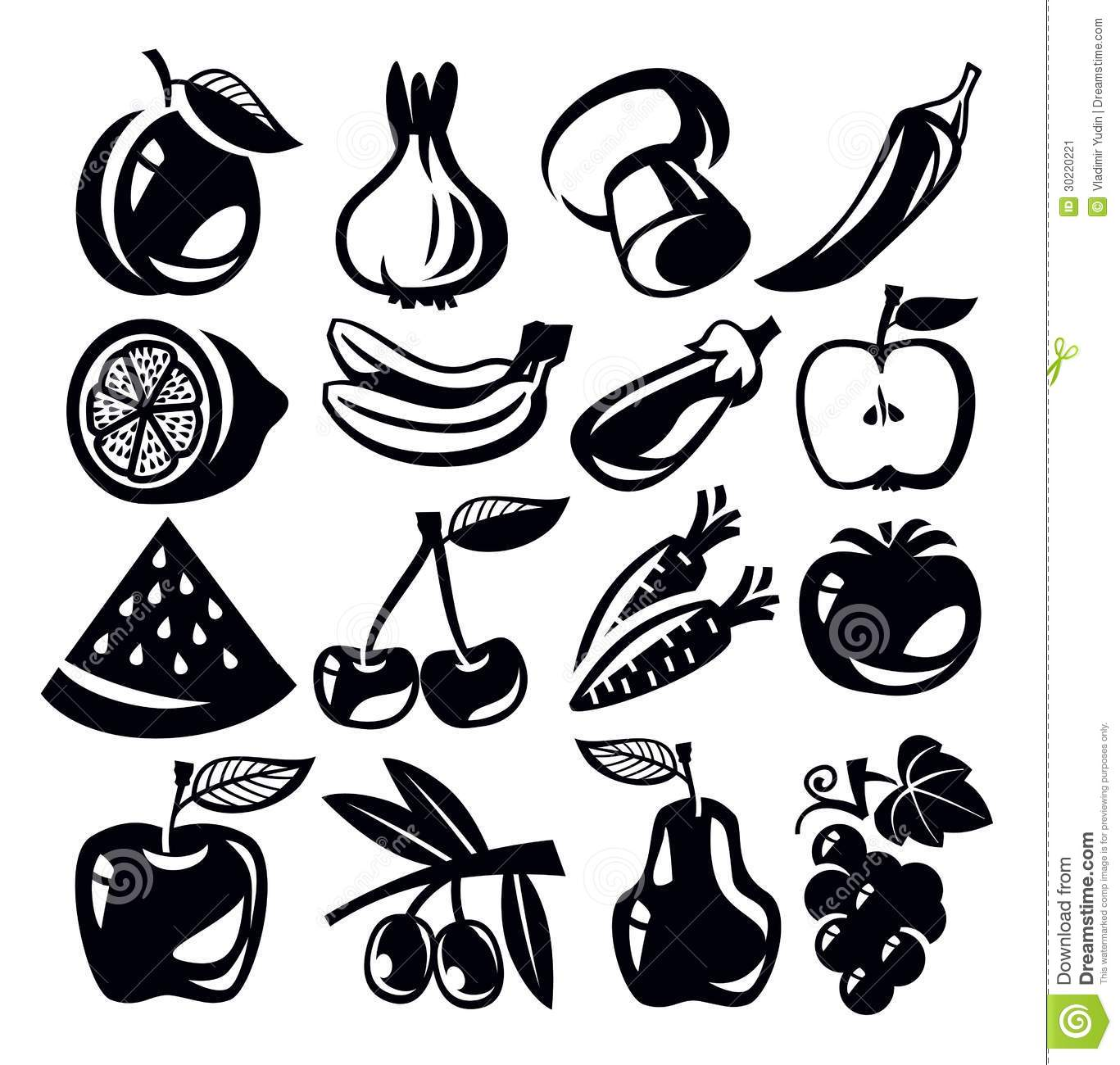 Vegetables And Fruits Stock Vector Illustration Of