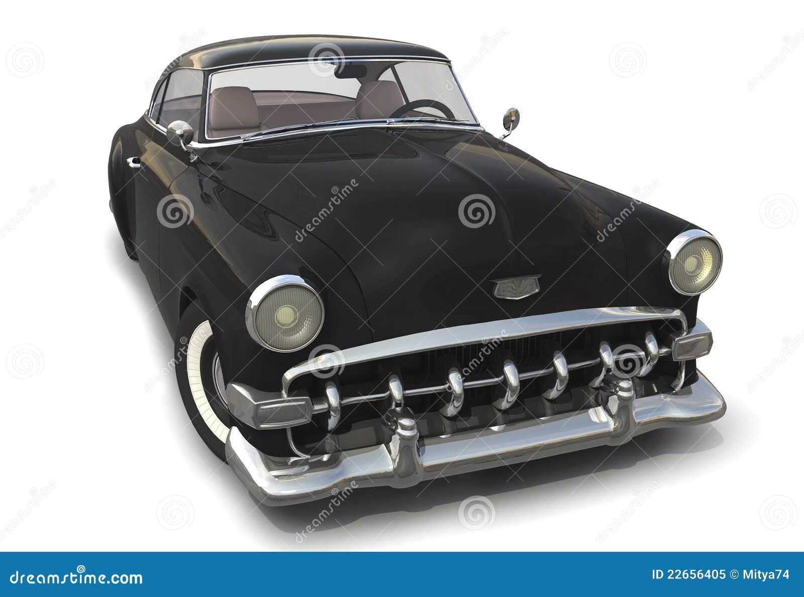 Black Vintage Car 3d Model Royalty Free Stock Photo