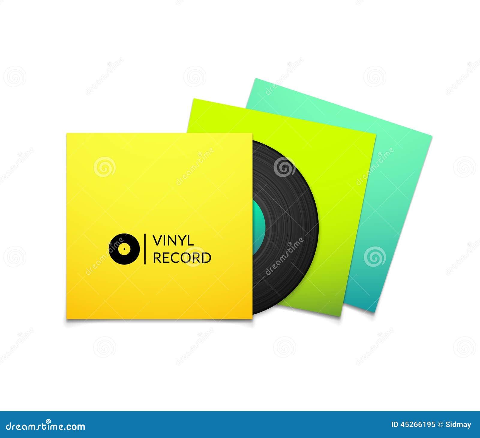 Vintage blue vinal record