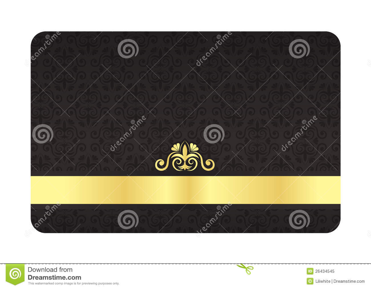 black vip card with vintage pattern and golden lab royalty
