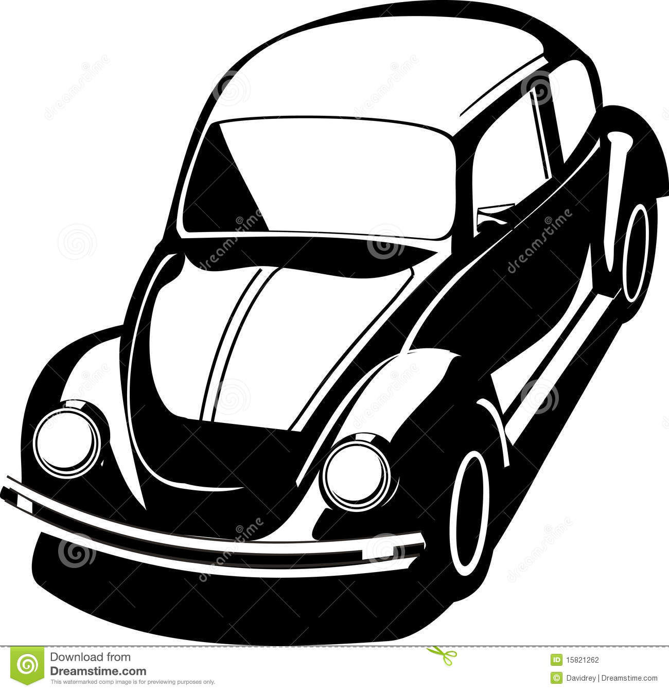 Black volkswagen bug stock vector. Image of drawing, vynil - 15821262