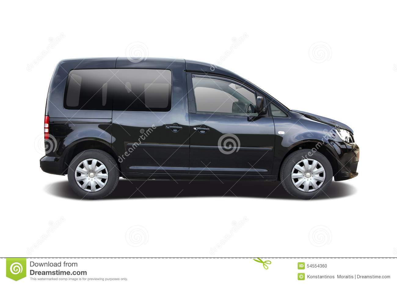 Black VW Caddy stock photo. Image of german, multispace - 54554360