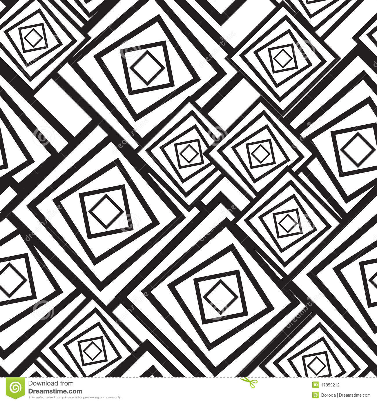 Black-and-white Abstract Background With Squares Stock ...