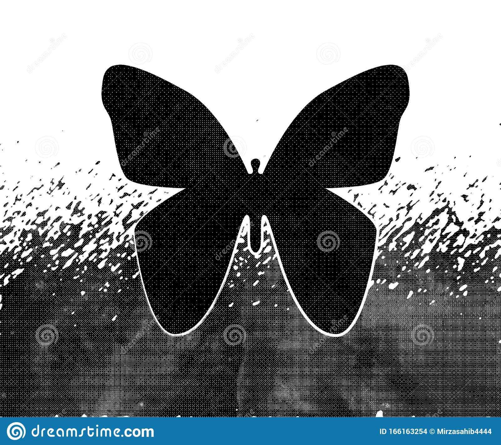 Black And White Abstract Butterfly Wallpaper Background Stock Illustration Illustration Of Abstract Background 166163254