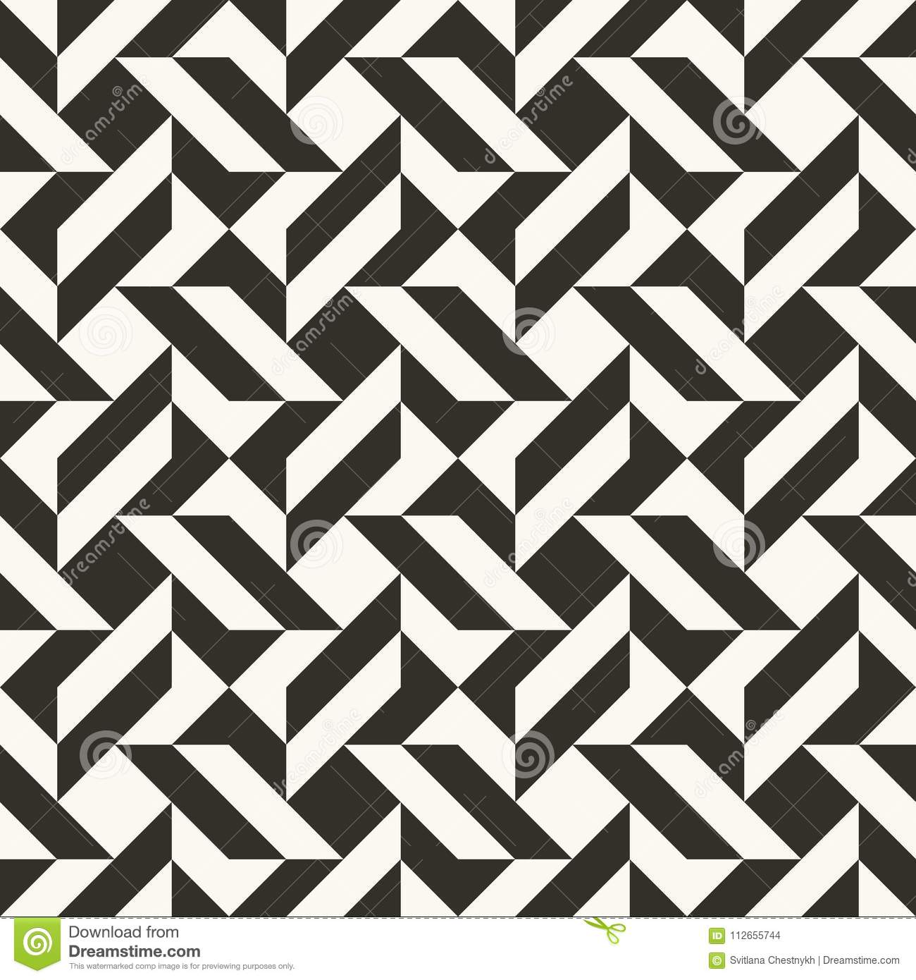 black and white abstract geometric quilt pattern. simple minimal