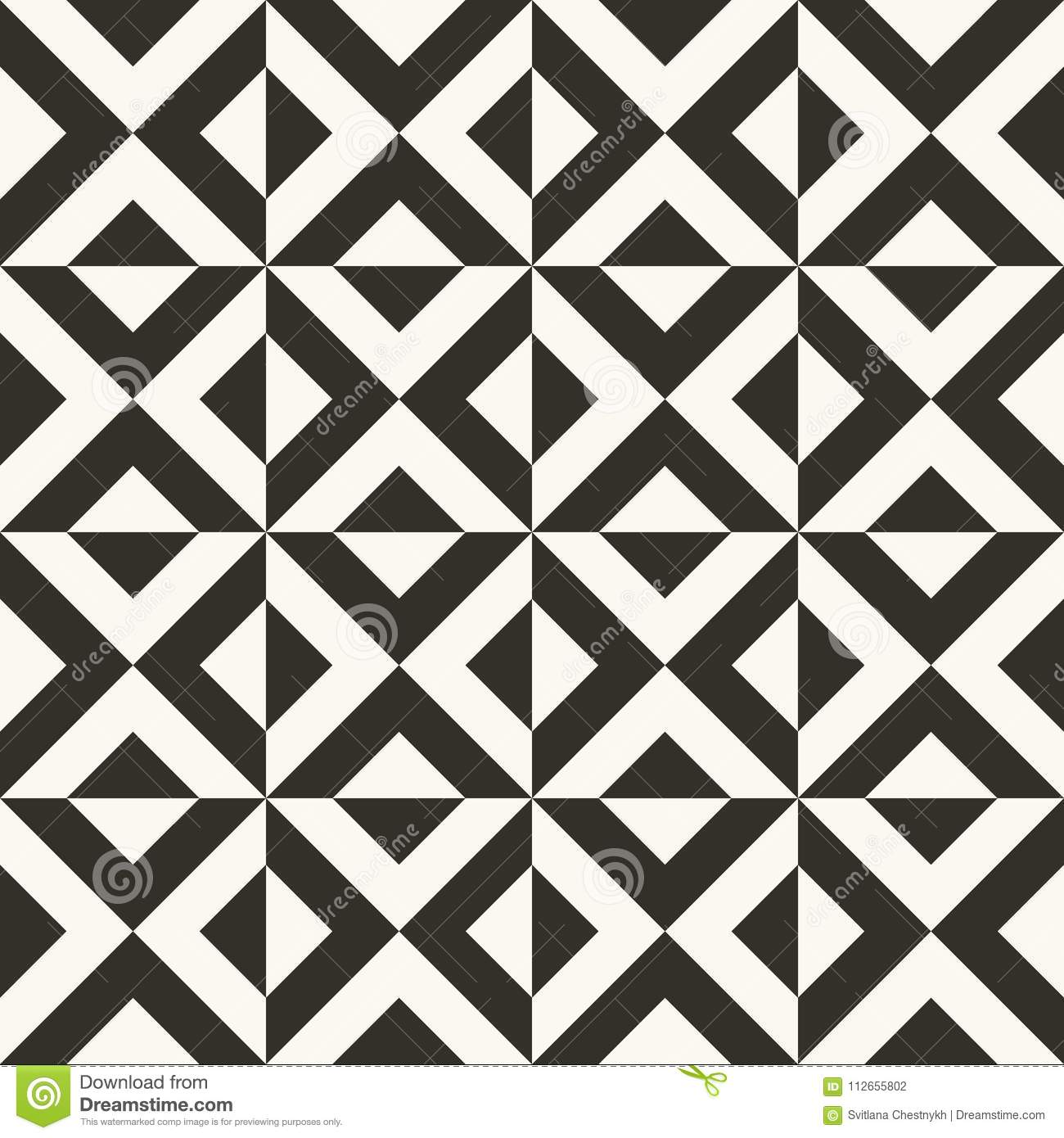 Black and white abstract geometric quilt pattern high contrast geometric background with triangles simple colors easy to recolor minimal background