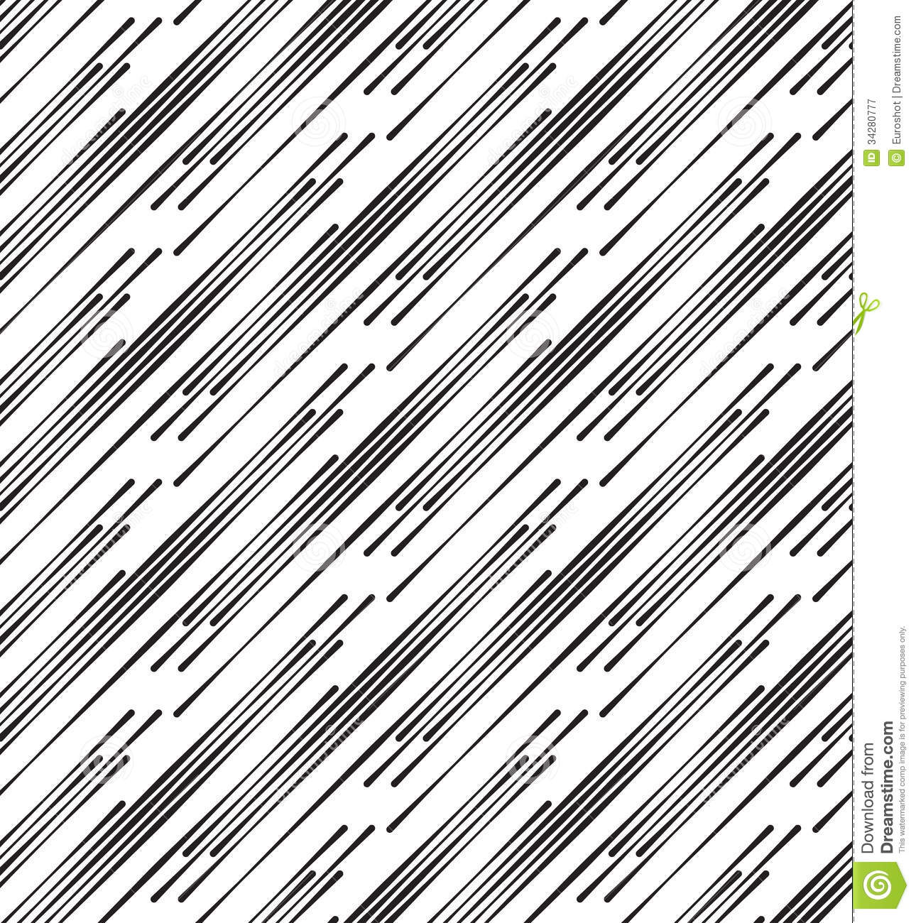 black and white abstract geometric vector seamless pattern. stock