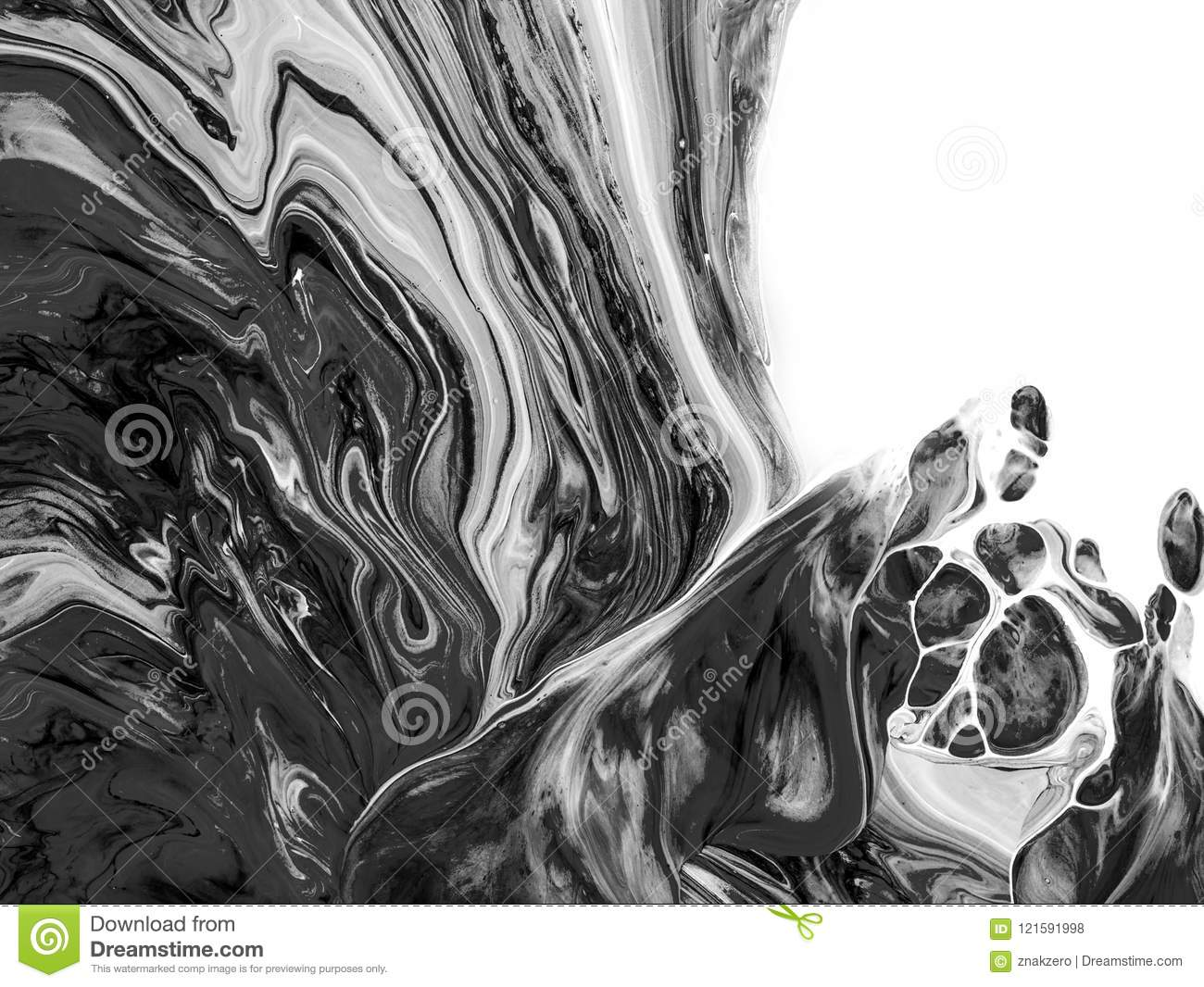 Black and white abstract painted background wallpaper texture modern art