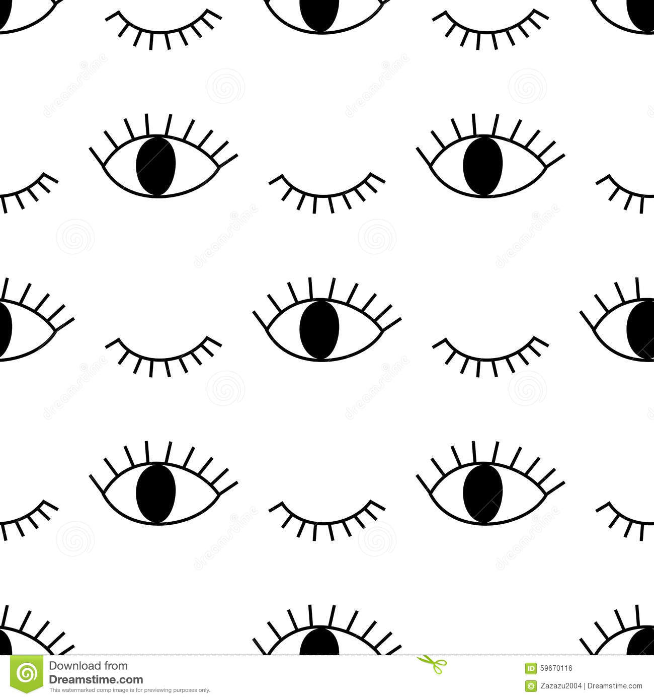 Black and white abstract pattern with open and winking eyes stock download black and white abstract pattern with open and winking eyes stock vector illustration ccuart Images