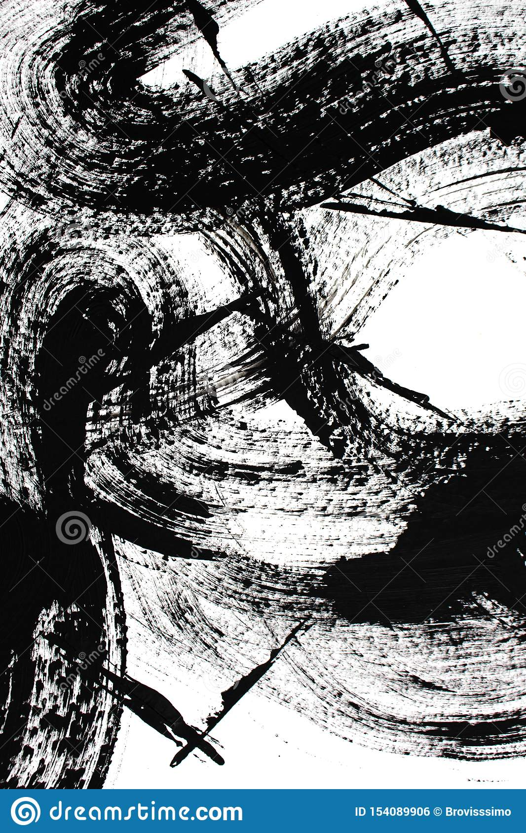 Black And White Art Abstract Art Background Acrylic