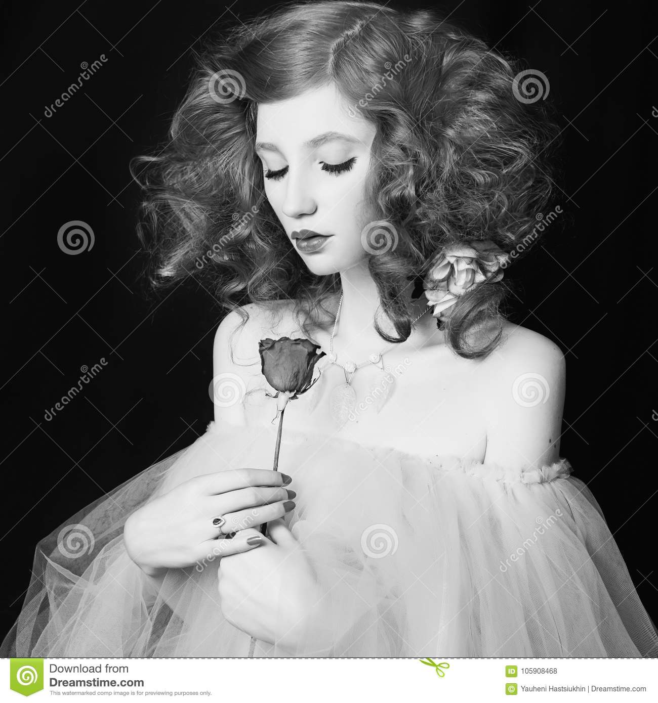 Art black and white photography unusual appearance stock photo