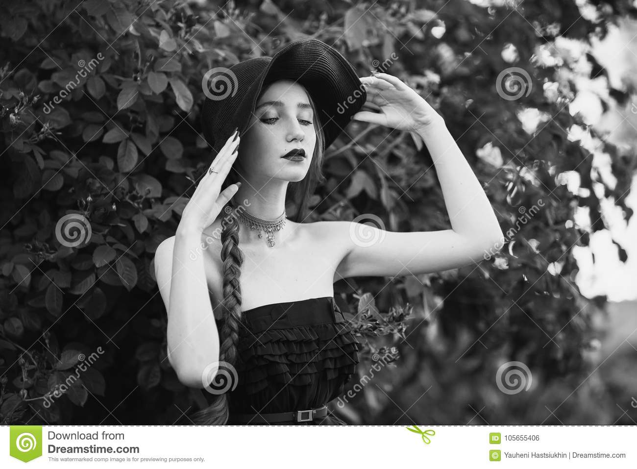Artistic black and white photography unusual appearance fashion