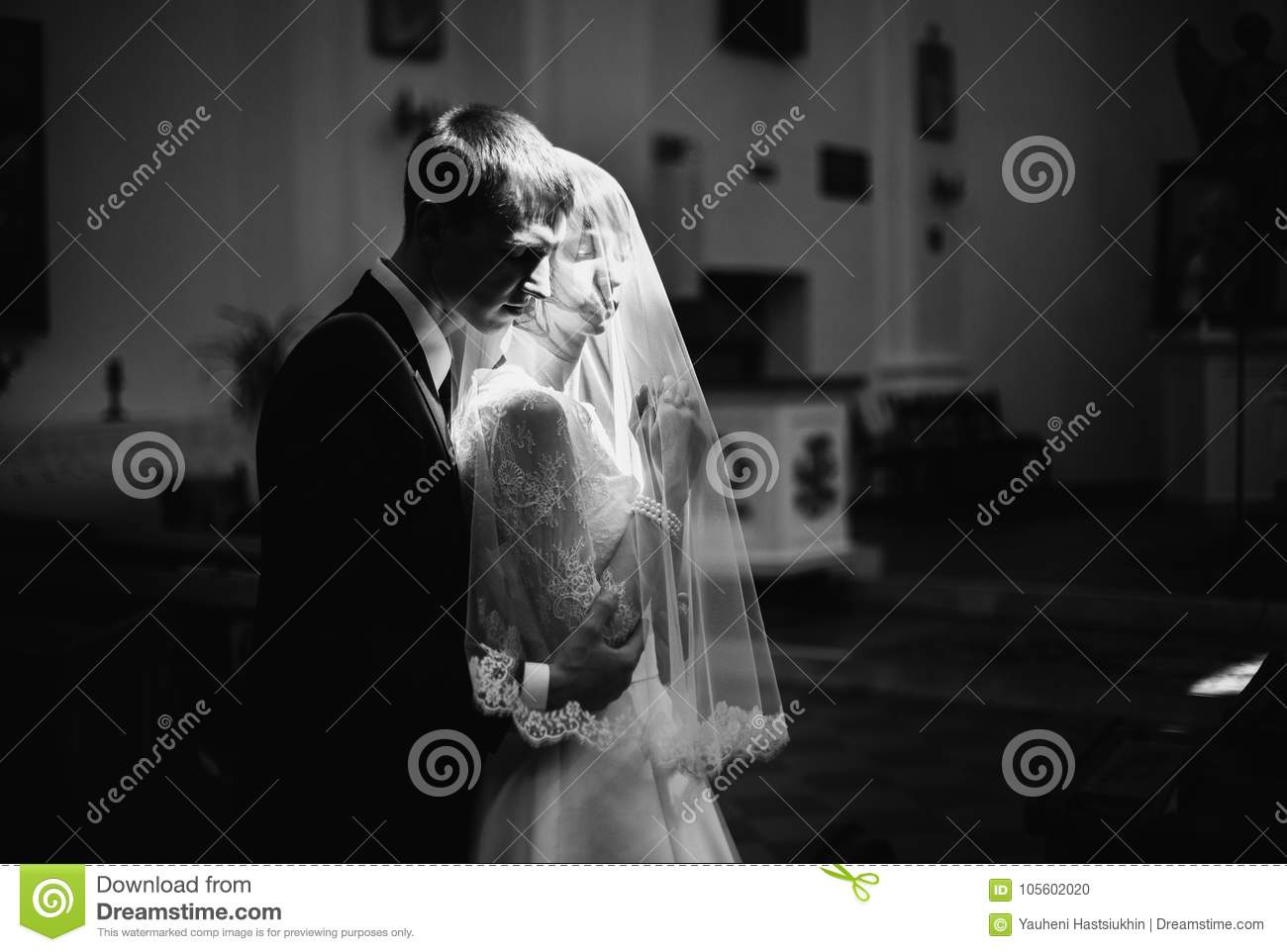 Artistic black and white photography. Wedding photography