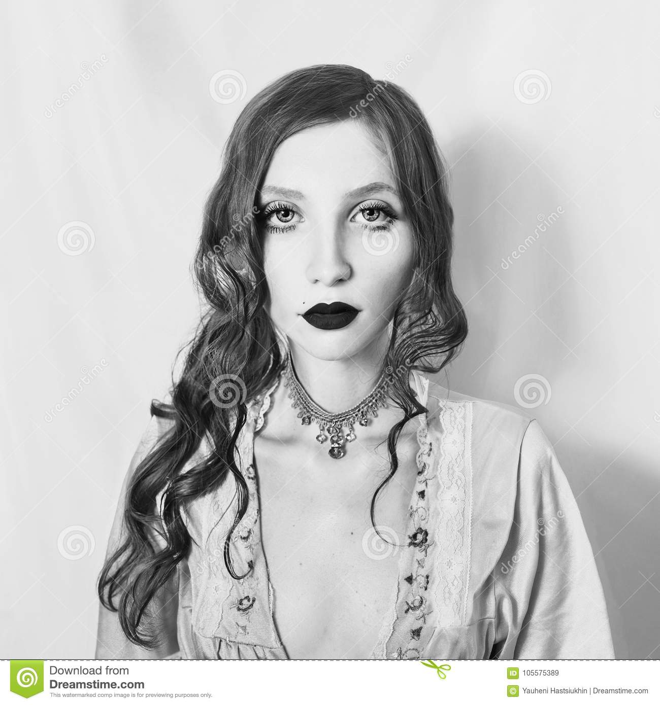 Artistic black and white photography unusual appearance stock image