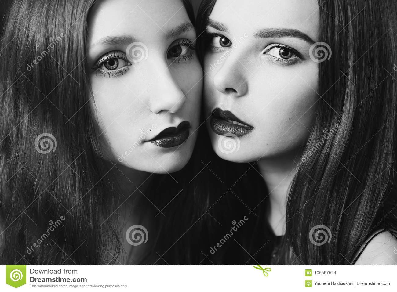 Lesbian black and white photography