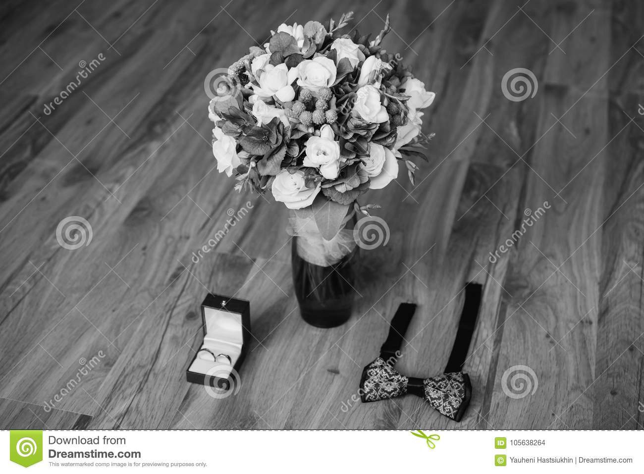 Art Black And White Photography Wedding Decorations Stock Photo
