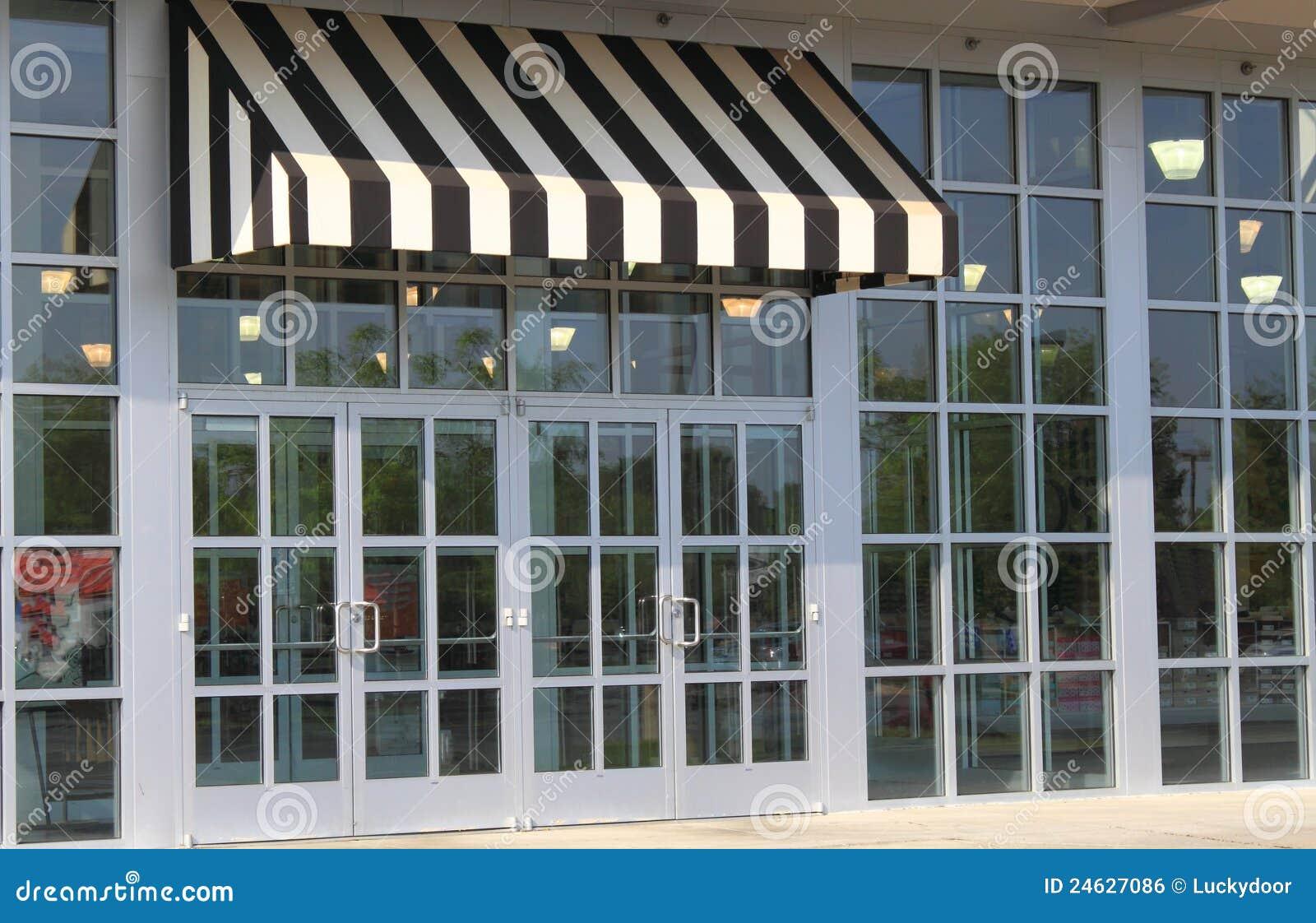 Black And White Awning Stock Photo Image Of Doors Awnings 24627086