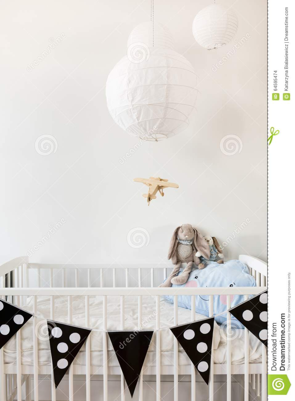 black and white baby room stock photo image 64595474