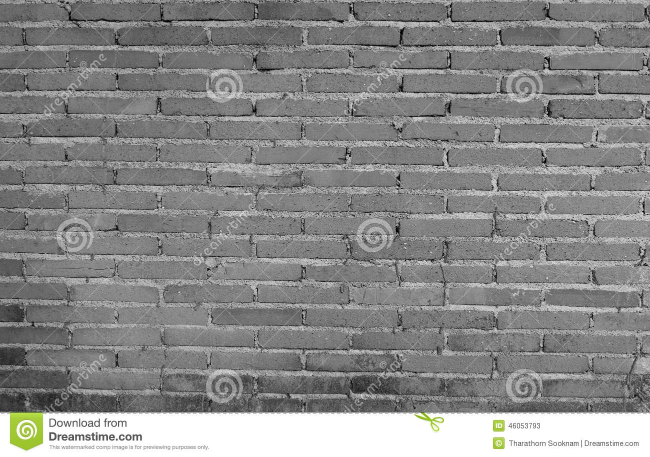 Black And White Background Of Bricks Wall Pattern Royalty
