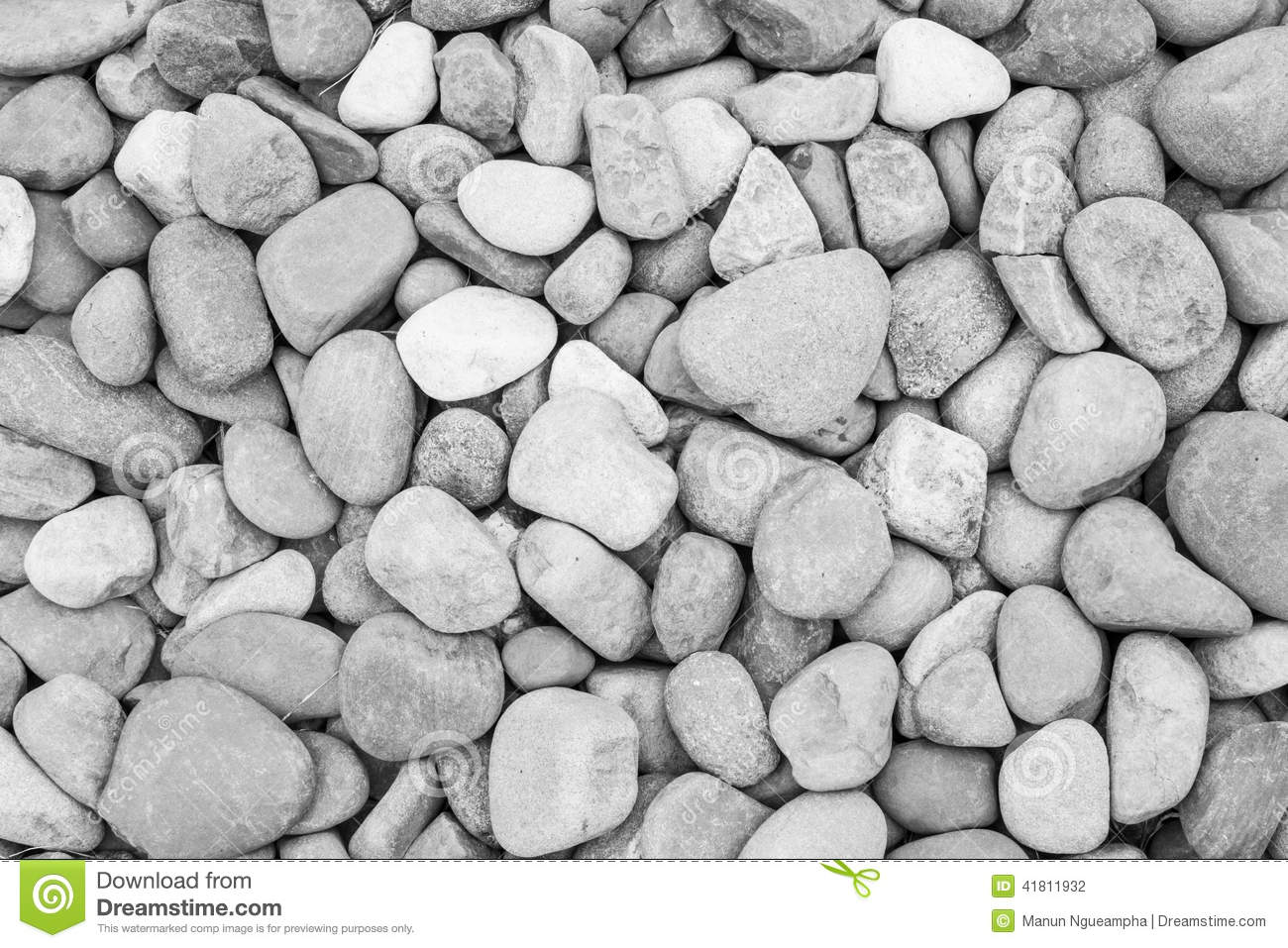 Black and white background texture of stone wall