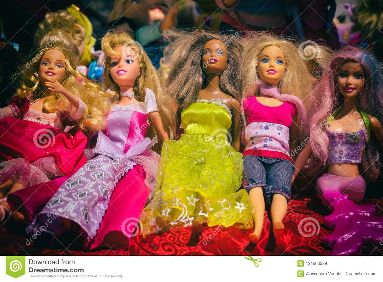 Black And White Barbie Dolls Editorial Stock Image Image Of